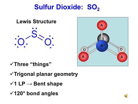 sulfur dioxide diagram unit 5b covalent bonding ppt