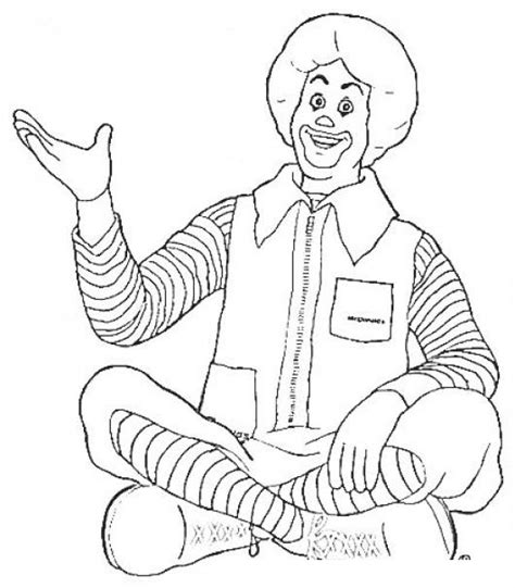 ronald mcdonalds coloring pages
