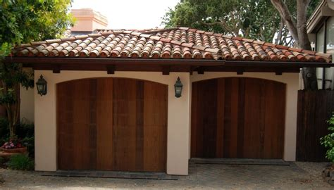 spanish style garage spanish style ceramic tile roof on two car garage with
