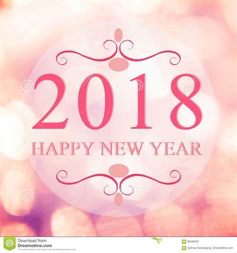 shopping list for new year happy new year 2018 year on beautiful blur background