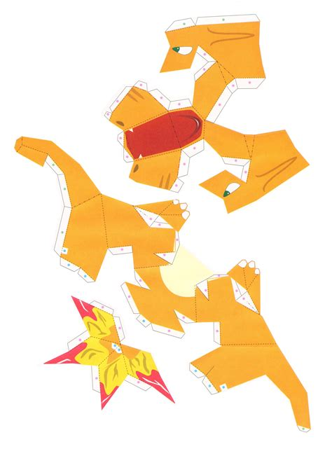 Papercraft Charizard - papercraft print outs growlithe images