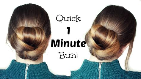 quick  easy   bun hairstyle updo easy