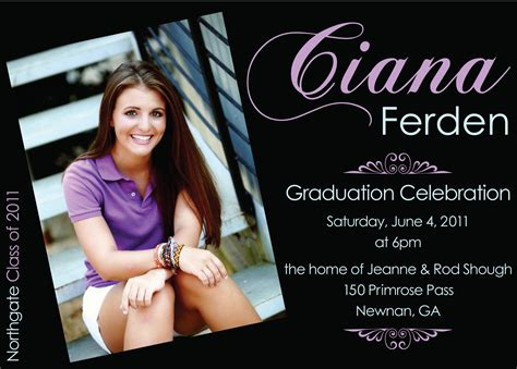 free graduation announcement photo card templates create own graduation invitations templates free