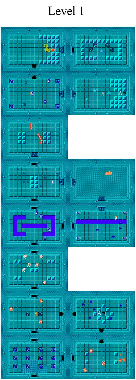 legend of zelda map level 1 the legend of zelda world dungeon maps