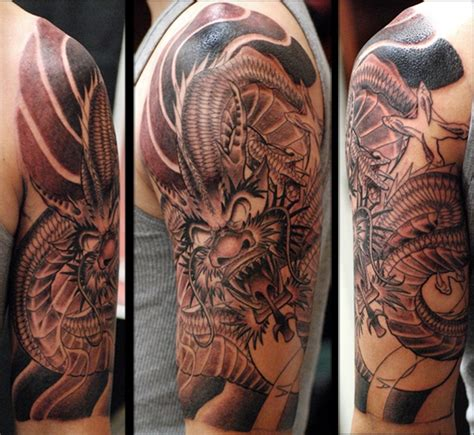 dragon half sleeve tattoo arm tattoos and designs page 365