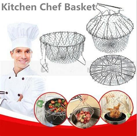 Chef Basket Kitchen Tools free shipping kitchen chef basket chef basket deluxe kitchen colander cooking expandable 1425