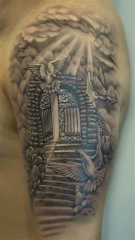 40 Cloud Tattoos: Both Heavenly & Earthly Gates Of Heaven Design