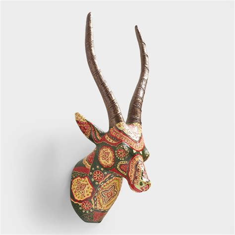 How To Make A Paper Mache Bust - painted paper mache antelope bust world market