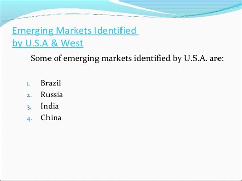 strategies that fit emerging markets strategies that fit emerging markets