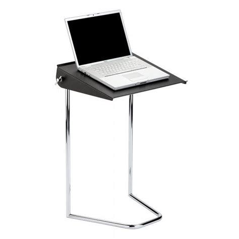 bureau ordinateur portable meuble pliant pour ordinateur portable noir achat