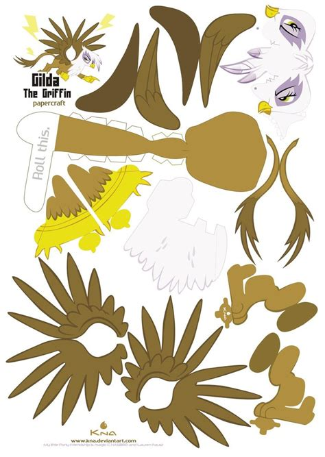 paper craft patterns gilda papercraft pattern by kna on deviantart