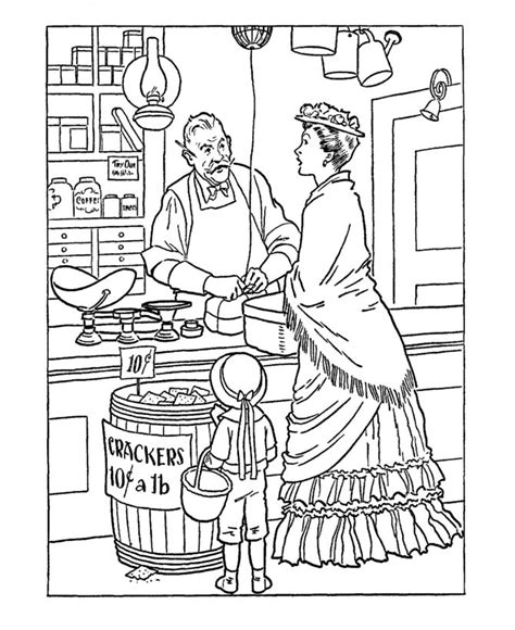 colonial coloring pages coloring pages