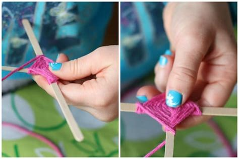 ornaments for two year olds to make colourful god s eye craft weaving for happy hooligans