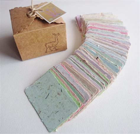 Handmade Paper Business Cards - sle 20 handmade business cards blank recycled paper