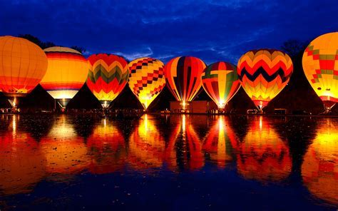 Balluminaria Hot Air Balloon Glow Festival Wallpapers   HD