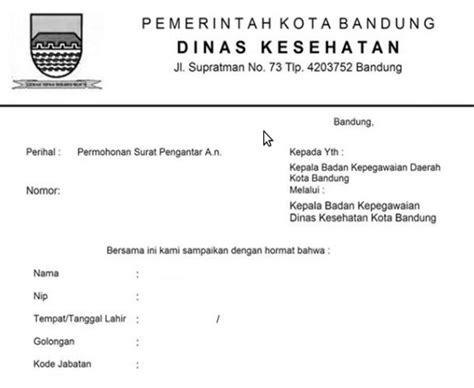 contoh surat pengantar dinas belajar bahasa indonesia