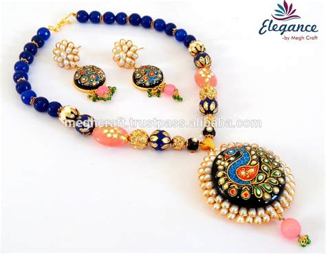 Cheap Handmade Jewelry - wholesale handmade tanjore jewelry tanjor pachi work
