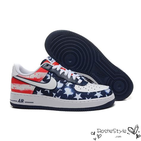 Nike Air One Low nike air 1 low independence day usa flag mens shoes