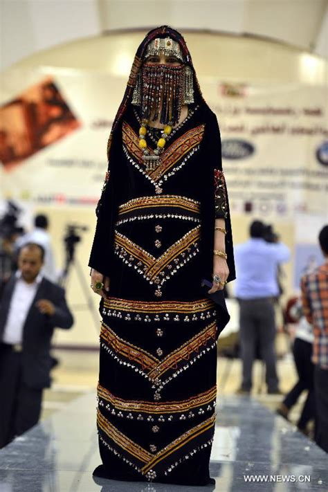 Yemeni Wedding Attire by Traditional Clothes Staged In Yemen Fashion Show Cntvna