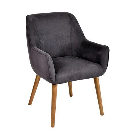 sillas de comedor con brazos silla con brazos tapizado gris ximena demarques