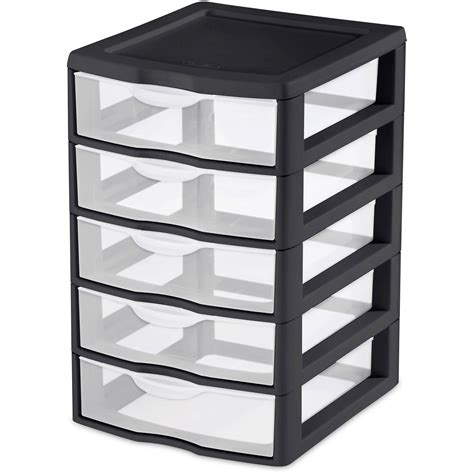 sterilite plastic drawers black 4 x sterilite small 5 drawer unit box storage plastic