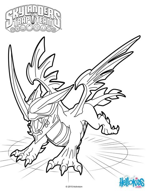 dragon coloring pages games black dragon coloring sheet from the skylanders trap team