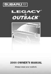 manual repair free 2000 subaru legacy user handbook 2000 subaru legacy manuals