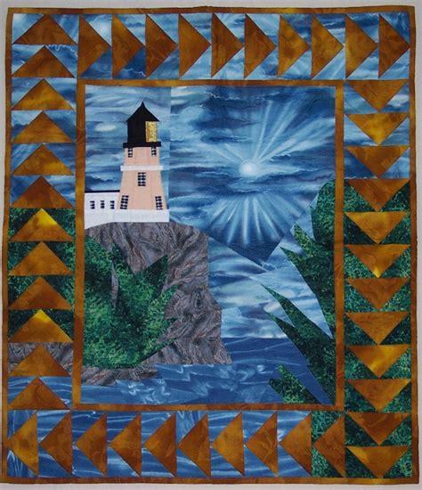 pattern split rock lighthouse wall hanging handmade