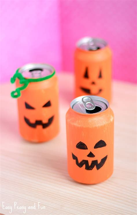 tin can crafts tin can pumpkin craft crafts for easy