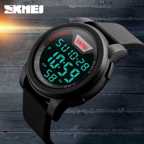 Blink Time Fashionable Jam Tangan Led new brand skmei sports watches fashion silicone waterproof led digital