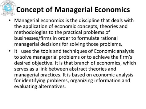 Managerial Economics Mba Explained by Nature Scope Significance Of Managerial Economics