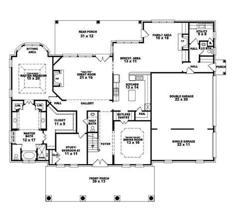 southern plantation floor plans southern plantation home plan 087s 0035 house plans and more