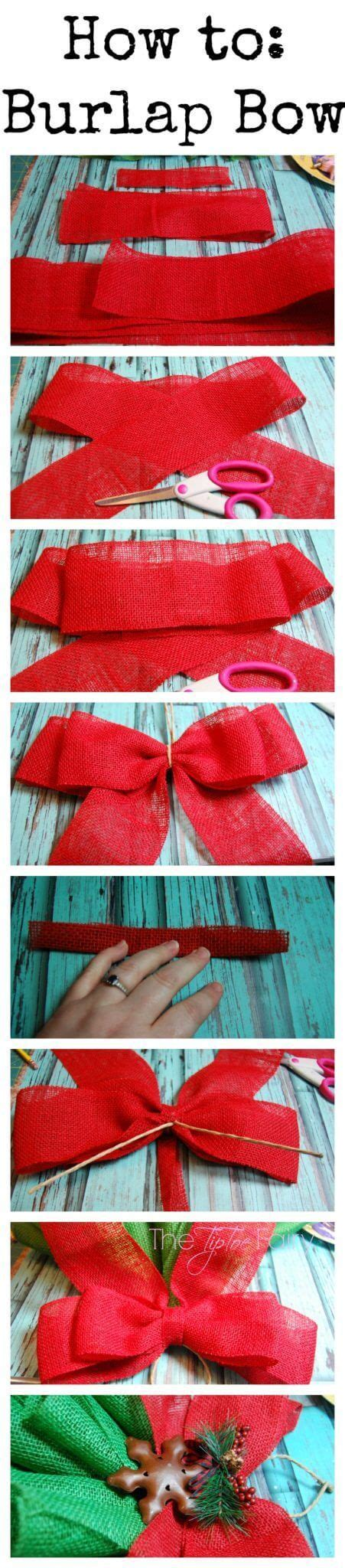 diy christmas bows for trees diy burlap tree wall hanging the tiptoe