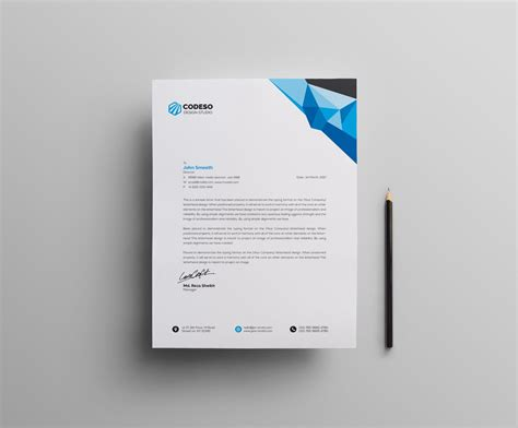 clean letterhead design template catalog