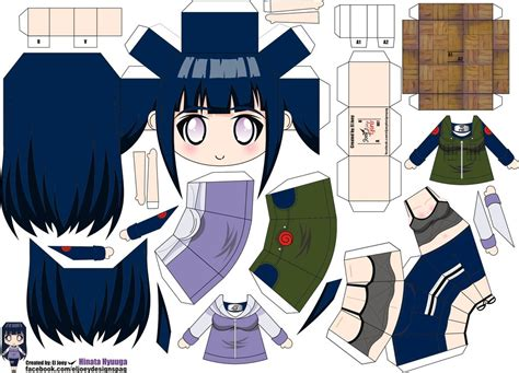 Paper Crafts Anime - hinata papertoy by eljoeydesigns on deviantart