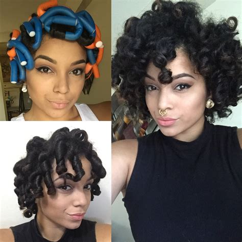 black women flexi rod hair styles flexi rod set on natural hair feat dr miracle s my
