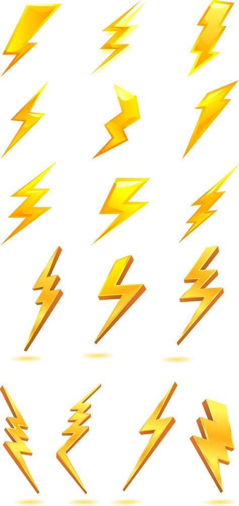 golden lightning bolt icon vector icon clipart best