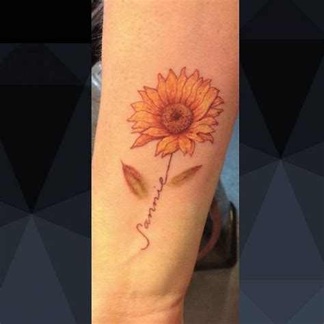 sun flower tattoo flowers ideas for review