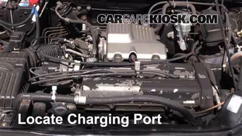 auto air conditioning service 2001 honda cr v transmission control how to add refrigerant to a 1997 2001 honda cr v 2000 honda cr v ex 2 0l 4 cyl