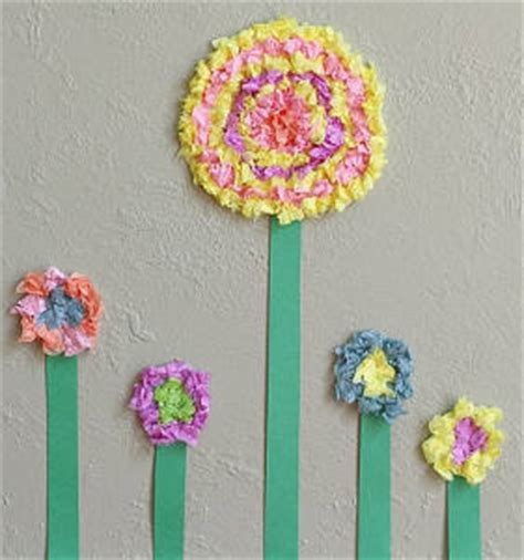 Tissue Paper Flowers Craft - tissue paper flower crafts allfreekidscrafts