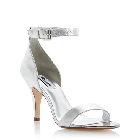 ankle strap heels silver mad heel