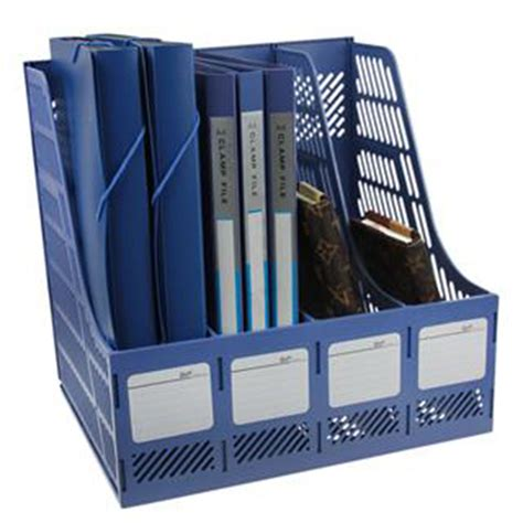 file rack for desk 2 x magazine file organiser holder lever arch filing rack