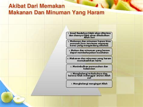 Buku Kitab Akibat Makanan Yang Haram power point makanan minuman halal dan haram ari efendi teknologi pe