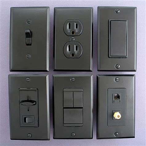 colored electrical outlets black switch plates are meant to be noticed to be light