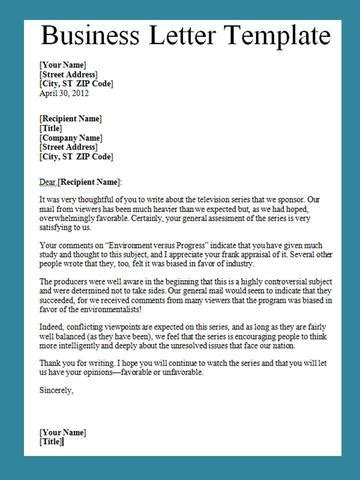How To Write A Business Letter Template search results for how to write a business letter format