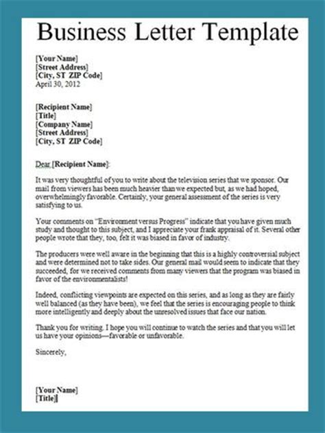 Writing A Business Letter Template eng11cafe technical writing