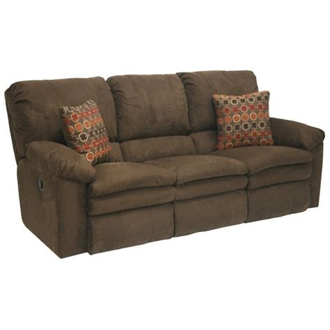 catnapper impulse power reclining fabric sofa in godiva