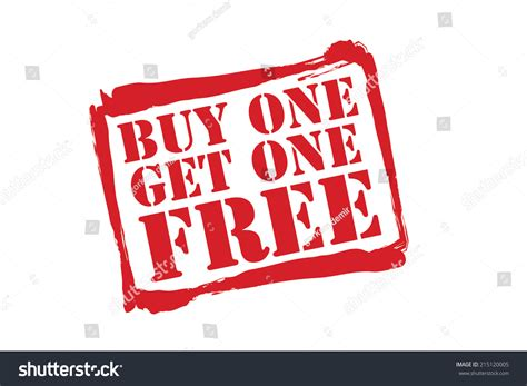 where to buy one buy one get one free stock vector 215120005