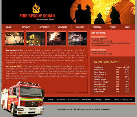 Free Department Website Templates Closed Fire Department Website Template Needed Free Website Templates