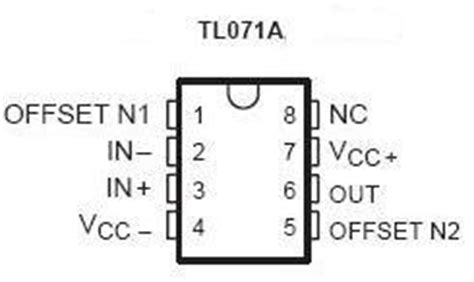 Ic Tl071 tl071 smt jfet op ic nightfire electronics llc